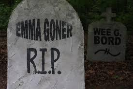 halloween how to diy tombstones