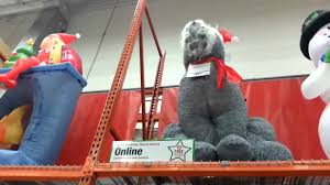 Home Depot Inflatable Christmas Decorations Home Depot Christmas Display 2015 Youtube