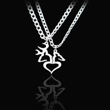 buck and doe couples necklace buck doe couples necklace set the distinguished