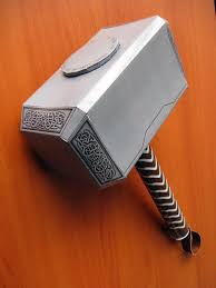 thor movie hammer papercraft behold the geek