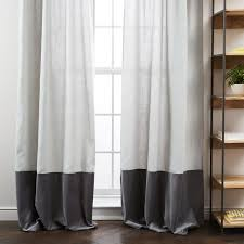 In The White Room With Black Curtains Blackout Drapes West Elm