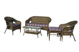 Purple Patio Cushions by The Hom St James 5 Piece All Weather Wicker Patio Seating Set