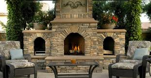 Outdoor Entertaining Spaces - outdoor fireplaces are great entertaining spaces at this time of