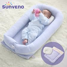 sunveno portable baby bed crib newborn infant bedding sleep travel