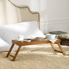 basic lap table bed tray wayfair basics wayfair basics wooden breakfast tray home