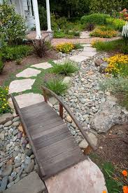 yard bridge awesome garden design with stones and rocks