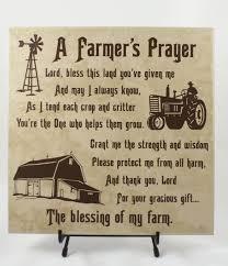 farmers prayer american farmer farming family gift for