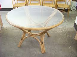table spinning center starrkingschool wicker table with glass top home design