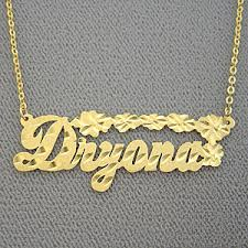 gold name necklace personalized gold name necklace jewelry script name pendant