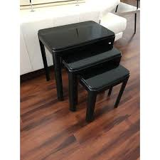 Nesting Desk Vintage Black Lacquer Nesting Tables Set Of 3 Chairish