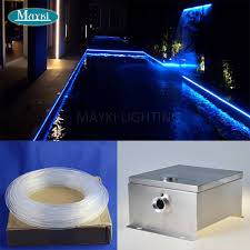 20m side glow fiber optic cable ip 43 dmx multi color change cree