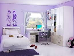 cool teenage bedroom decorating ideas with amazing wallpaint