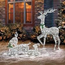 Ebay Christmas Lights Outdoor by Led Lighted Wireframe Reindeer Family Outdoor Christmas Yard Decor