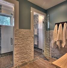 river rock ralph lauren paint bathroom transitional with glass