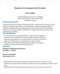 Business Development Resumes Business Resume Sample Free U0026 Premium Templates