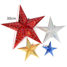 aliexpress com buy 2pcs hollow star paper pendants 30cm