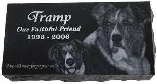 pet memorial pet memorial granite photo engraved 10 x 16 x 2