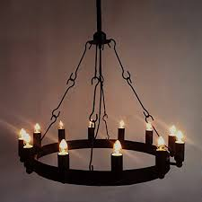 Wrought Iron Chandelier Ceiling Light Industrial Vintage Chandelier