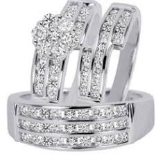 wedding trio sets swarovski wedding ring sets simple trio wedding ring sets