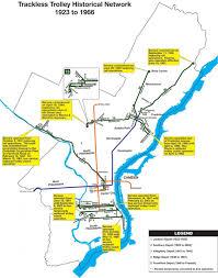 septa map septa trolley map map of septa trolley pennsylvania usa