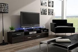 Wenge Living Room Furniture Modern High Gloss Evora Wenge Tv Stand Display Cabinet Wall