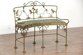 wrought iron bench bench decoration