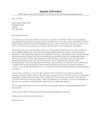 Examples Of Cover Letters For Resume by Counseling Cover Letter Examples Haadyaooverbayresort Com