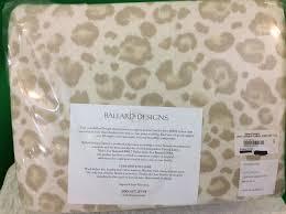 leopard flannel sheet set full ballard designs ebay