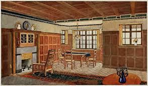 craftsman dining room laurelhurst craftsman bungalow interiors in colours 1912