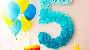 birthday decorations pom pom number birthday decoration