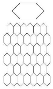 7 best images of elongated hexagon template printable elongated