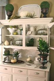kitchen hutch decorating ideas my hutch that i chalk painted and distressed for my dunn