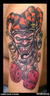 joker clown n dice design tattoobite com bubbagump1955