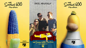 fxx promotes simpsons 600 marathon with thanksgiving imagery and