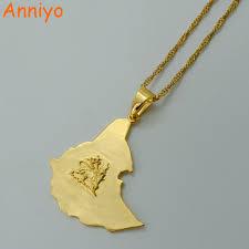 Eritrea Map Aliexpress Com Buy Anniyo Original Ethiopian Map Necklace For