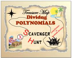 scavenger hunt dividing polynomials long and or synthetic