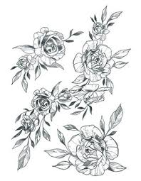 flower ornaments set tattooednow ltd