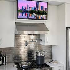 flatscreen tv over kitchen hood design ideas