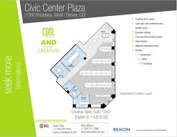civic center floor plan lease office space in civic center plaza on 1560 broadway st in