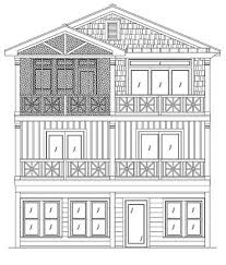 narrow lot house plans coastal home plans
