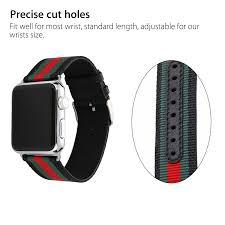leather wrist strap bracelet images Sport nylon stripe leather wrist band strap bracelet for apple jpg