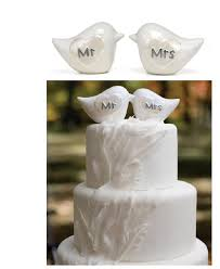 cake topers mr and mrs porcelain birds cake topper wedding cake