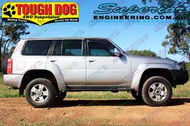 nissan patrol 1990 superior 3 inch lift kit nissan patrol gq with tough dog shocks