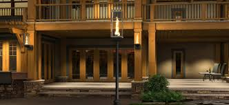 patio column lights outdoor gas lamps and lighting tempest torch