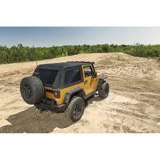 jeep wrangler unlimited sport soft top rugged ridge 13750 39 wrangler jk bowless soft top black diamond