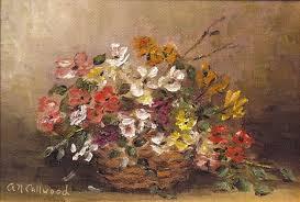 basket of flowers basket of flowers painting by aurelia nieves callwood