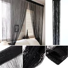 2pcs 100 200cm solid color fantasy high end door thread curtain