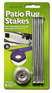 Rv Patio Rug Prest O Fit 2 2001 Rv Awning Patio Mat Rug Stakes 6 Pack