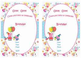 peppa pig birthday invitations plumegiant com