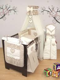 15 pcs baby bedding set nappy bag cot tidy sleeping wrap fits cot